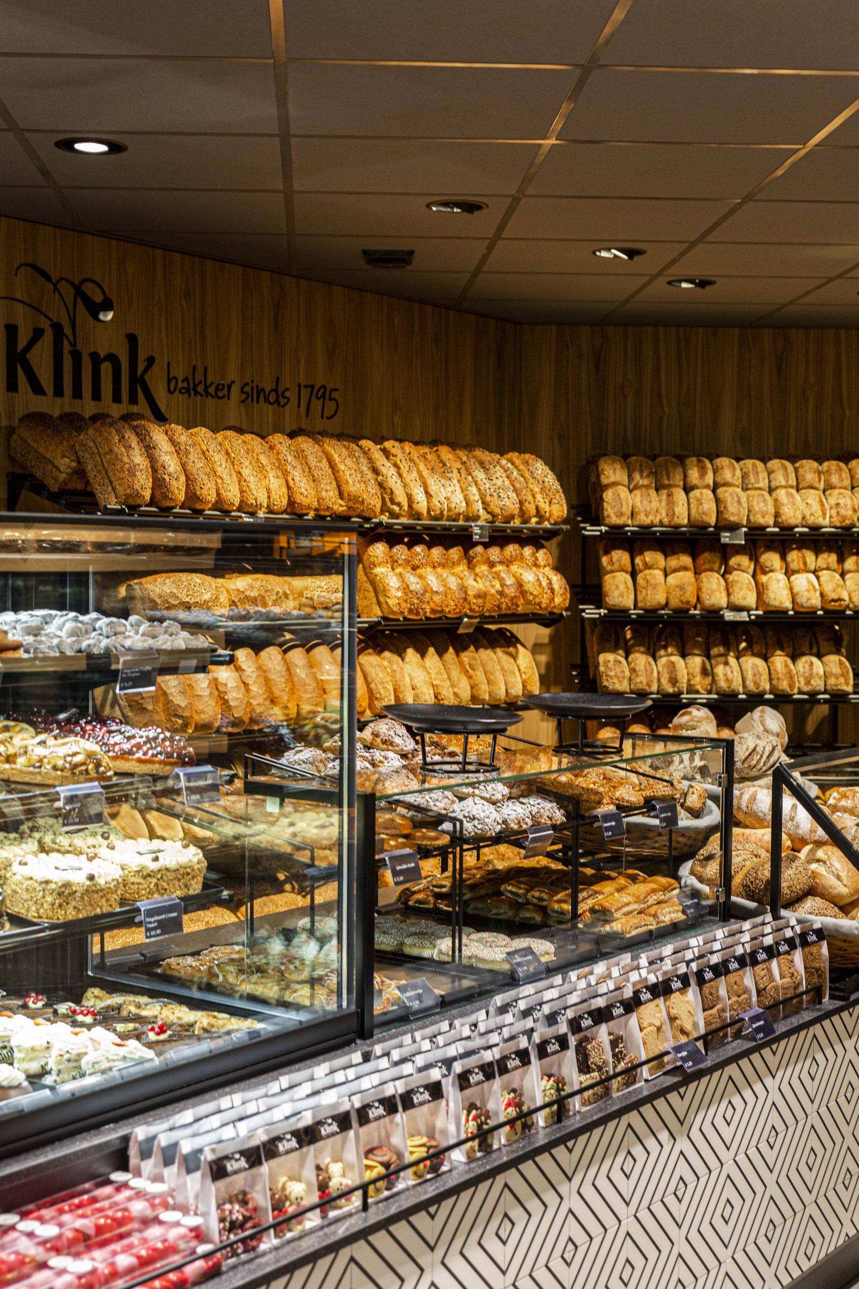 Bakker Klink winkel Koningin Julianalaan opening broodrek