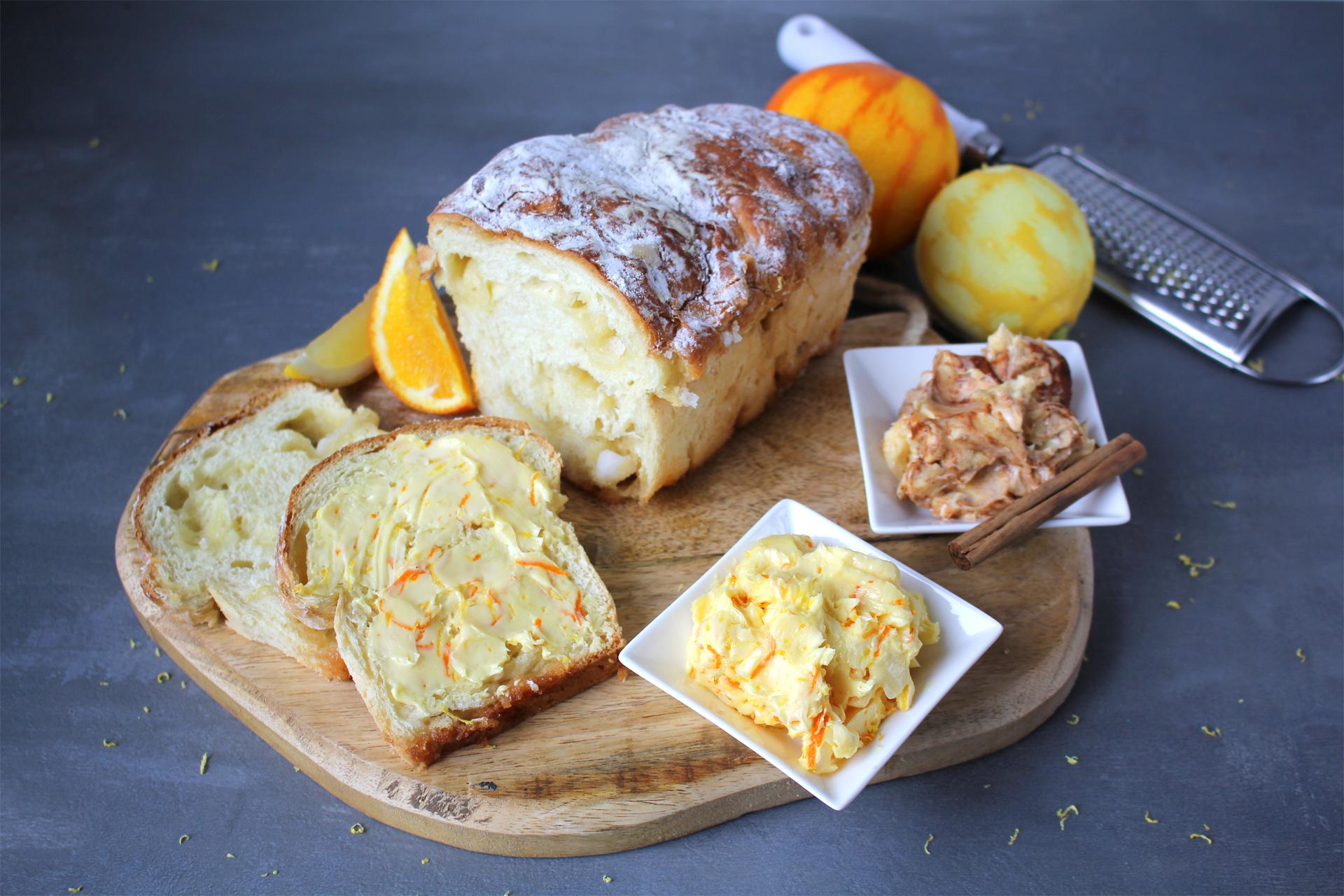 Bakker Klink suikerbrood met citrus en kaneel boter